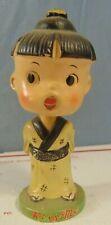 VINTAGE 1960'S ASIAN CHILD BOBBLEHEAD NODDER ESTATE FIND ORIGINAL KISS ME