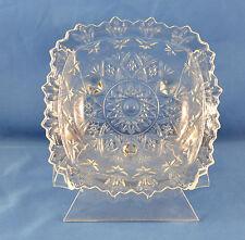"Vintage  Pressed Glass Ashtray/Trinket Dish, 5 1/2"" Square  (PG3)"