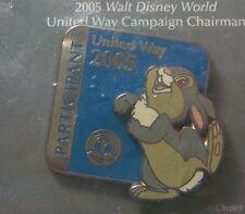 Disney Pin Wdw United Way 2005 Participant Thumper Bambi