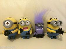 McDonalds Despicable Me 2 Minion Set of 4 Toys Evil Chomper, Stuart, Tom  New!!
