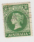 (W1124) 1955 AU 3½d green SA centenary of first stamp (A)