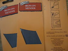IRON ON MENDER - GREY - NO SEWING NEEDED TO FIX HOLES IN TROUSERS