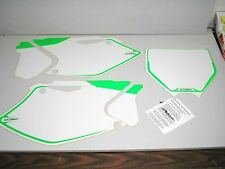 Kawasaki KX KX250F New Printed Backgrounds White NEON GREEN 2004 2005 250 250F