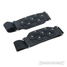 SNOW AND ICE GRIPS SPIKES OVER THE SHOE AND BOOTS ANTI SLIP GRIPPERS CRAMPONS