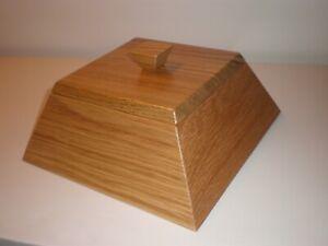 Wooden pyramid box. Keepsake box. Handmade in USA.