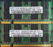 Samsung 2GB(2x1GB) DDR2 PC2-5300S Laptop Memory Modules