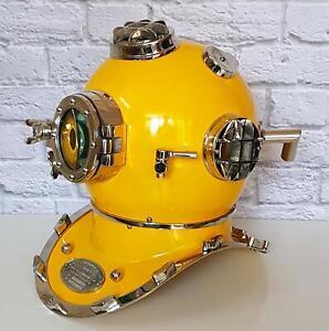 "Mark V 18"" US Navy Diver Helmet Maritime Scuba Vintage Hallowen Diving Equipment"