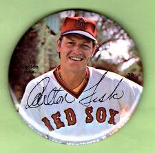 1978 CARLTON FISK Boston Red Sox Baseball 3-Inch Sports Photo Pin Button