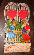 old embossed die cut Valentines day card