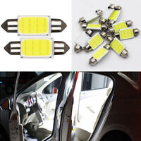 2Pcs White COB 39mm Festoon Interior Dome LED Reading Light Car Xenon Lamp Bulbs