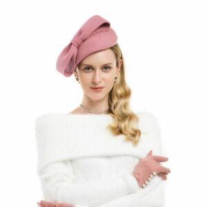 Teardrop Ladies Felt Wool Fascinator Cocktail Wedding Bridal Hat Headpiece CK020