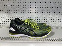 ASICS Gel-Nimbus 19 Mens Athletic Running Shoes Size 10 Neon Green Black Gray