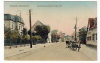 AK Litho ?um 1900 Karlsruhe Grünwinkel Blick in Durmersheimerstraße mit Bad Hof