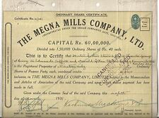 1966 India share: Megna Mills owners:HA Stewart T Grange Suffolk DA Stewart CmSt