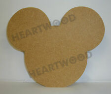 MICKEY MOUSE HEAD SHAPE IN MDF 145mm x 18mm/WOODEN CRAFT SHAPE/BLANK DECORATION