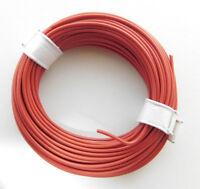 (0,189€/m) 10 m Litze/Kabel ROT z.B. für Märklin H0 Modellbahn oder n,tt etc.
