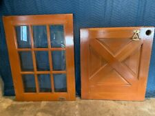 "Vintage Antique Architectural Salvage Half-Glass & Solid Wood 32"" Dutch Door"