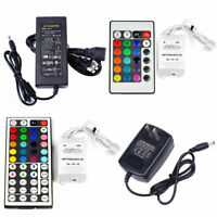 DC 12V 2A / 5A Power Supply Adapter Transformer LED 24/44 keys IR Remote RGB USA