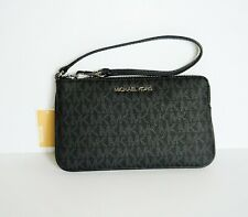 NWT MICHAEL KORS JET SET TRAVEL LARGE TOP ZIP WRISTLET MK BLACK