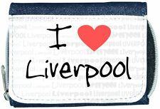 I Love Heart Liverpool Denim Wallet