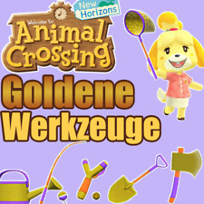 Animal Crossing New Horizons Goldenes Werkzeug SET Sofortlieferung