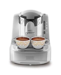 Arzum Okka OK002 Automatic Turkish/Greek Coffee Maker/Machine, White/Silver