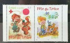 France paire fete du timbre 2002 Boule et Bill ** N° P3467A