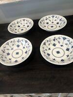 Set of 4 Churchill Finlandia Blue (Georgian Collection) Cereal Bowls - England