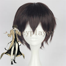 Cosplay Wig Bungo StrayDogs Osamu Dazai Short Brown Boy Anime Hair Halloween