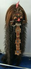 More details for vintage indonesian bali barong collectable painted mask (damaged)