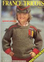 Catalogue France tricot année 1983 spécial enfants 29 modèles