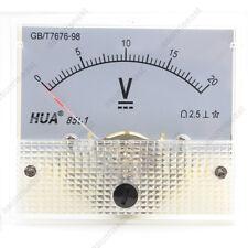 DC 20V Analog Panel Volt Voltage Meter Voltmeter Gauge 85C1 White 0-20V DC