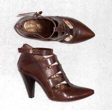 SAN MARINA low boots zippés cuir marron P 40 TBE