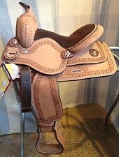 """12"""" Cowboy roughout youth all-around western saddle w/copper studs, conchos"""