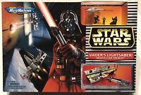 VADER'S LIGHTSABER/DEATH STAR TRENCH NIB STAR WARS 1996 GALOOB MICRO MACHINES