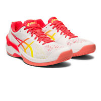 Asics Womens Sky Elite FF Indoor Court Shoes - Pink White Sports Squash