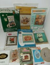 Lot Of 10 Vintage Craft Kits, Needlecraft, Needlepoint, Transfers, Embroidery