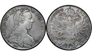 1 Thaler Austria 🇦🇹1780 Habsburg Silver Coin Maria Theresia # T1 From 1$
