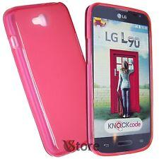 Cover Case for LG L90 D405 L 90 Fuchsia Retro Matt TPU Gel Silicone