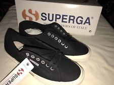 Superga X Brooks Brothers Mens Cotu Classic Canvas Shoes Lace Up Sneakers Black