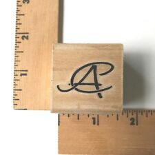 "Stamp Cabana Rubber Stamp Initials  ""AC"" - NEW"