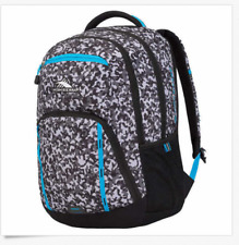 High Sierra RipRap Lifestyle Backpack Book Bag Blue & Black NWT