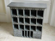 Pigeon hole chest Shabby Chic Storage  chest of drawers wall shelf drawer wooden