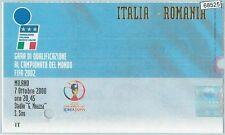 68525 -  BIGLIETTO PARTITA CALCIO 2002 : ITALY /  ROMANIA Campionato FIFA