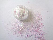 3g POT  IRRIDESCENT  -  SEQUIN /DISCS /DOTS  GLITTER MIX - NAIL ART