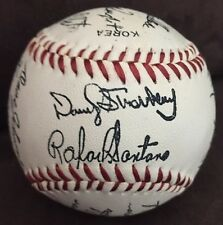1986 NY Mets World Series Team Signed Ball Printed Fascimile Baseball Promo Shea