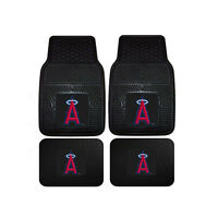 New MLB Los Angeles Angels Car Truck Front Rear Rubber Heavy duty Floor Mats