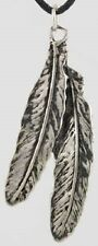 Sacred Peace Pewter Feather Necklace Amulet Bliss Pendant Friendship NativeNEW