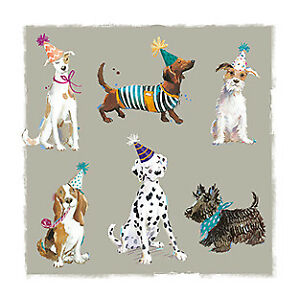 Note Card - 5 x Notelets - Friends Together Dog - Ling Design Thank You Quality