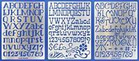 Aleks Melnyk #45 Metal Stencils/Small Letter Cursive, Alphabet, Number, ABC - 1